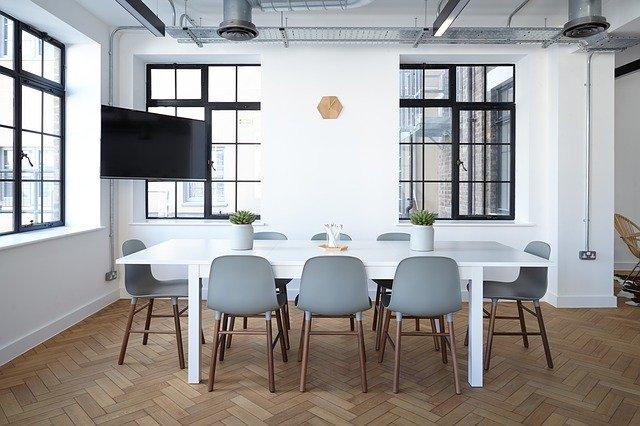 decoración de interiores en oficina
