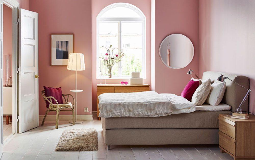 recámara en color rosa