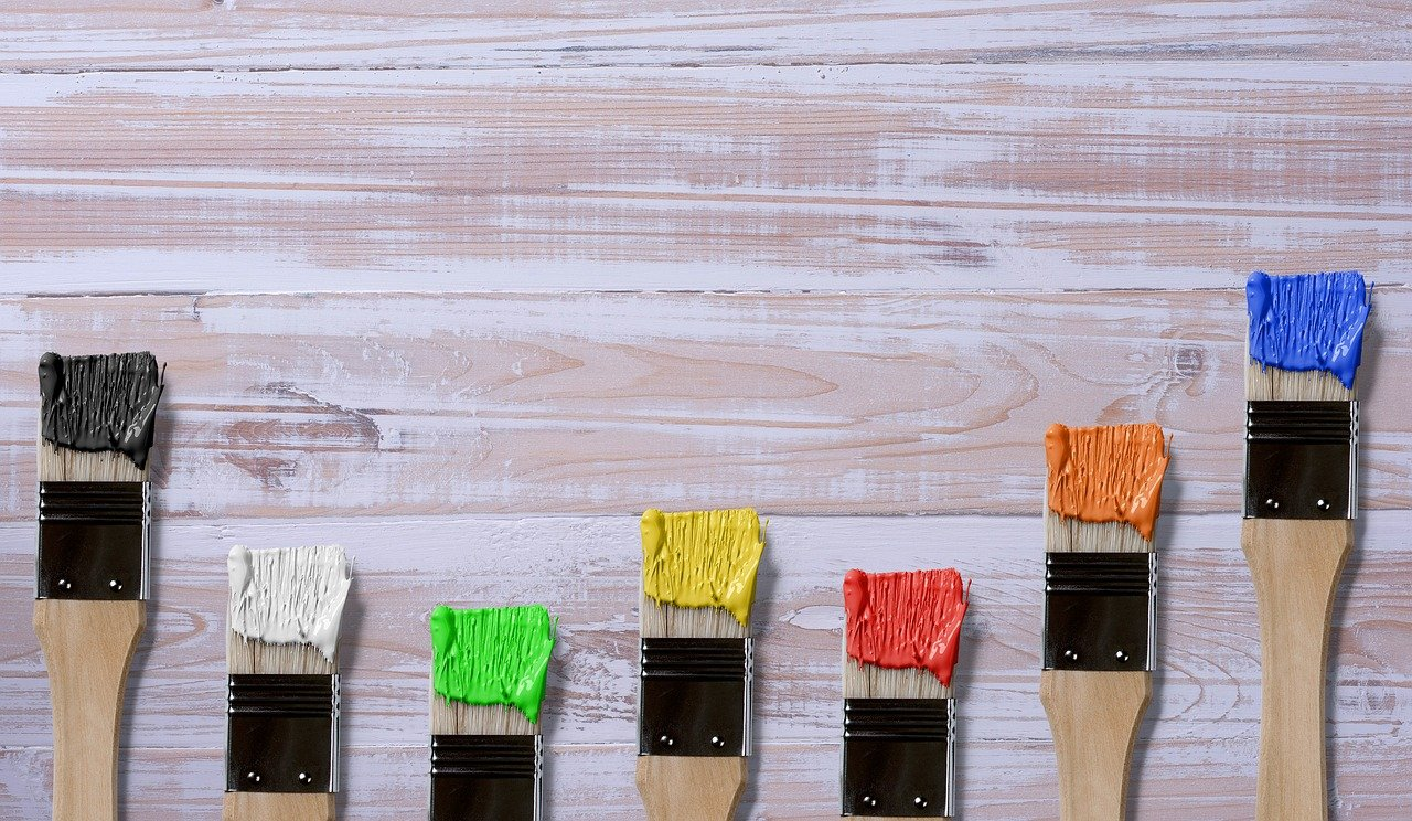brochas de diferentes colores