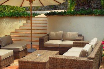 Muebles en patio