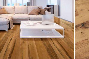 Casa con piso de madera.